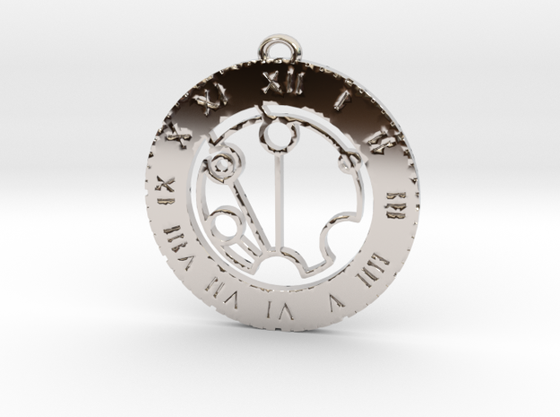 Stephen - Pendant in Rhodium Plated Brass