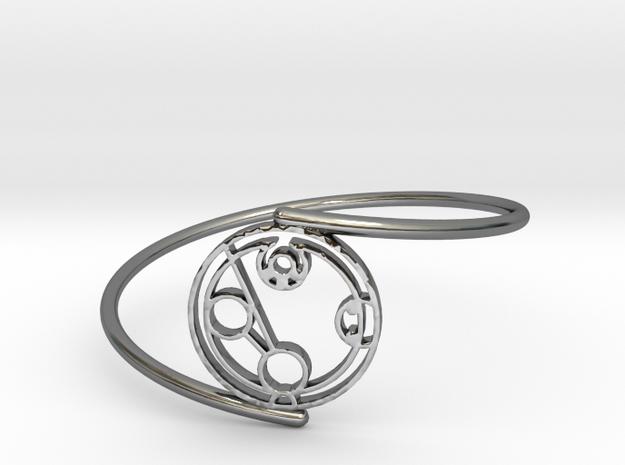 Hayden - Bracelet Thin Spiral in Fine Detail Polished Silver