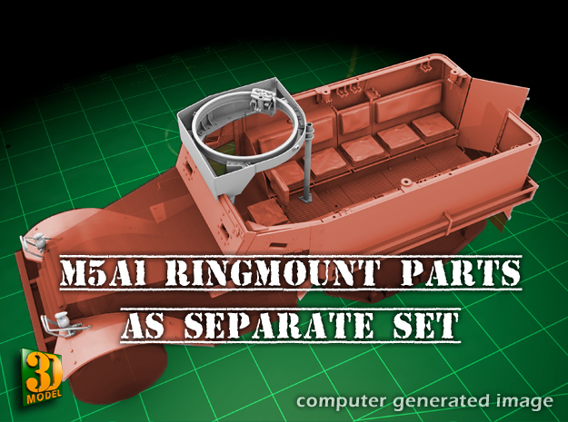 M5A1 Ringmount set in Frosted Ultra Detail