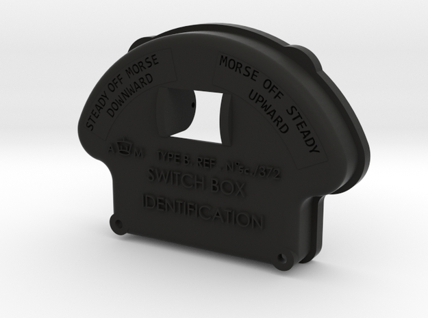 Morse Key Front Plate in Black Natural Versatile Plastic
