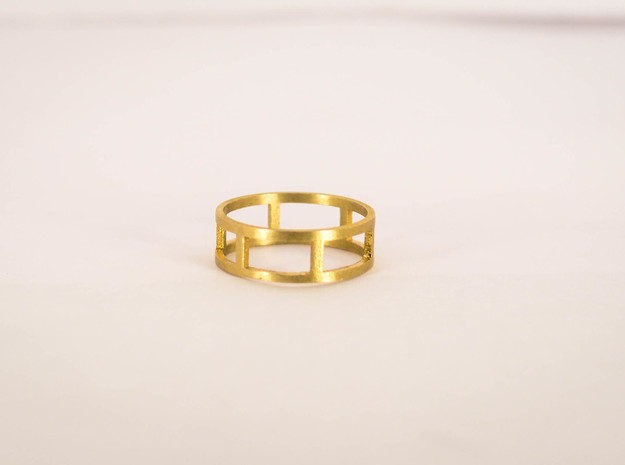 Simple Ring Size 6 in Raw Brass