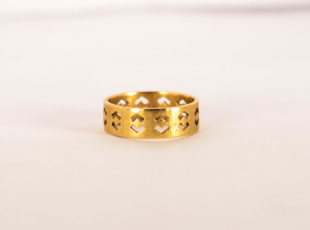 Echelon Ring Size 6 in Raw Brass