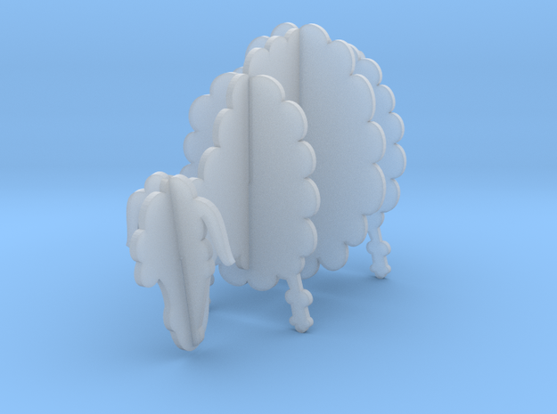 Wooden Sheep A 1:48 in Smooth Fine Detail Plastic