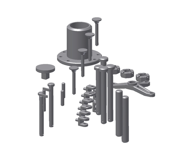Huey Small Parts Fittings Kit For Port & Starboard 3d printed