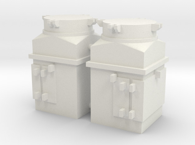 1/16 scale M4 Sherman Air Filters in White Natural Versatile Plastic