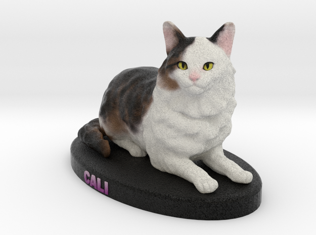 Custom Cat Figurine - Cali in Full Color Sandstone