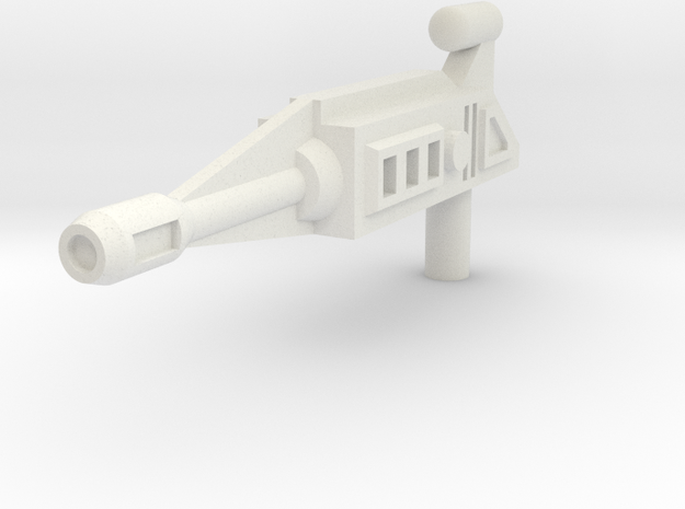 Dragster Rifle(5mm handle) in White Natural Versatile Plastic