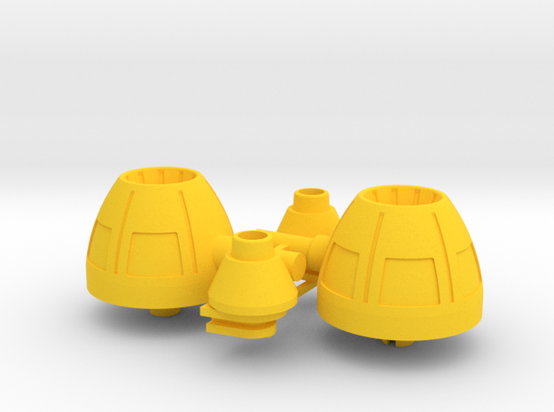 Playmobil Top Agents 4876, rear thrusters (3 of 4) in Yellow Processed Versatile Plastic