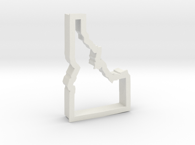 Idaho cookie cutter in White Strong & Flexible