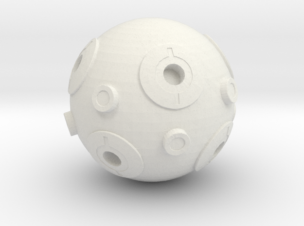Millenium Falcon DE-AGOSTINI Jedi training Remote  in White Natural Versatile Plastic