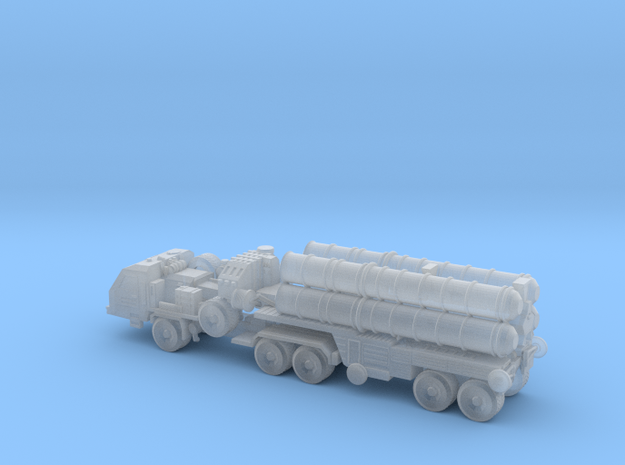 S-400 Missile with Transport 6mm in Smooth Fine Detail Plastic