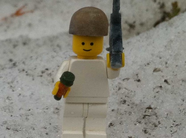 helmet german paratroopers 1938 for historic lego in Full Color Sandstone