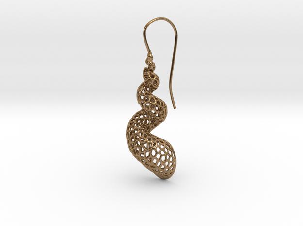 Turitella Shell Voronoi Fishhook Earring