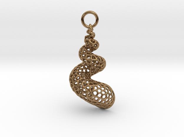 Seashell Voronoi Cell Pattern  pendant / earring