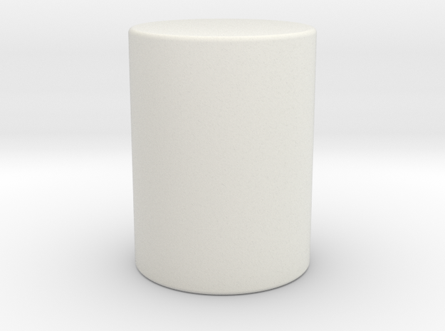 Cylinder in White Strong & Flexible