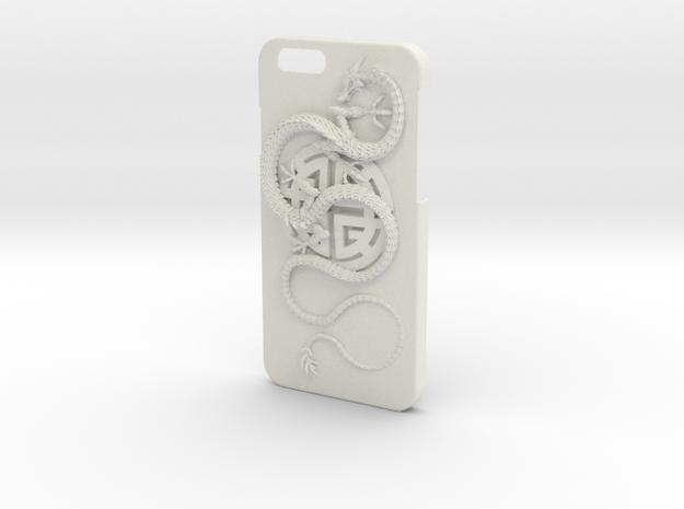 iPhone6 Case - Lu Prosperity Symbol with Dragon in White Natural Versatile Plastic