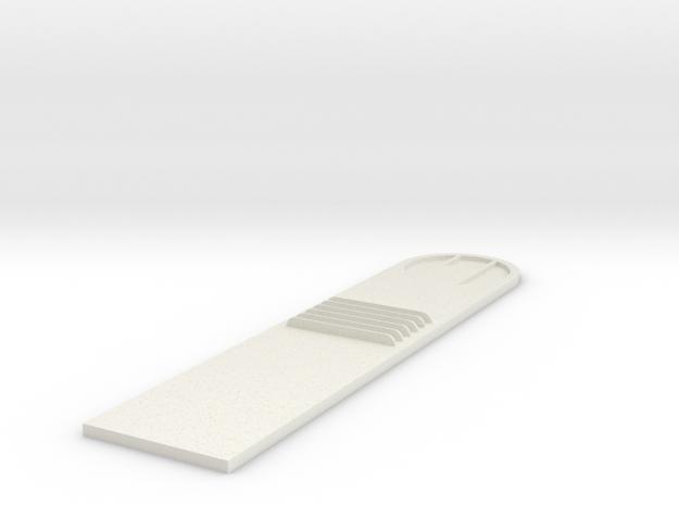 Batmobile-gun cover in White Natural Versatile Plastic