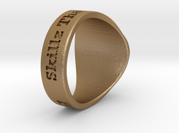 Superball G1nseng Ring Season 4 in Matte Gold Steel