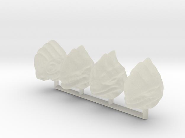 Fauxgan Headsculpts 3d printed