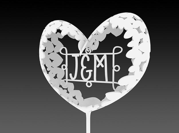 Caketopper J&M 3d printed