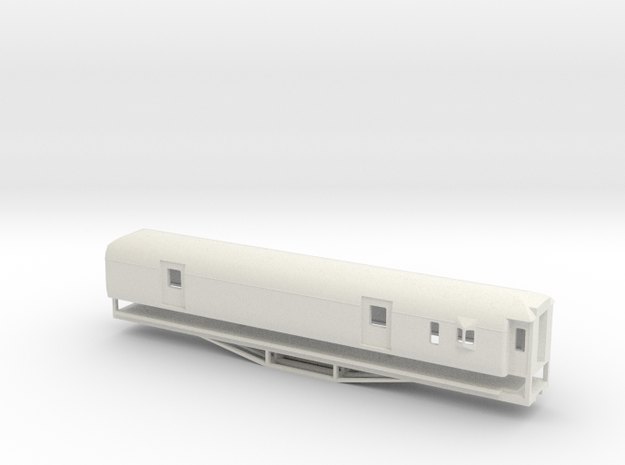 F 56ft Van, New Zealand, (S Scale, 1:64) in White Natural Versatile Plastic