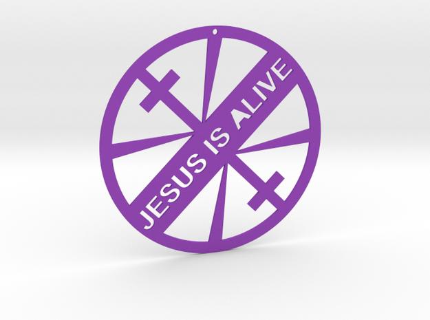 JESUS IS ALIVE in Purple Processed Versatile Plastic