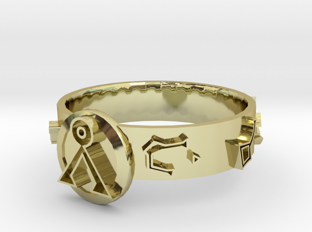 Stargate Dial Home Ring (size S)