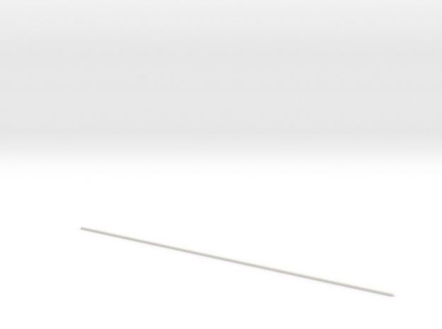 Lapping Rod (Length:20inch/635mm) in White Natural Versatile Plastic