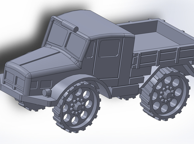 Radschlepper Ost perforated Wheels 1/285 6mm 3d printed