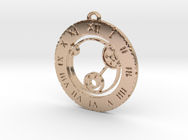 Lizzie - Pendant in 14k Rose Gold Plated Brass