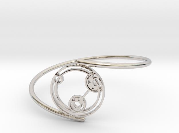 Lizzie - Bracelet Thin Spiral in Rhodium Plated Brass