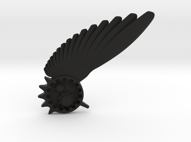Steam Punk Hat thing in Black Natural Versatile Plastic