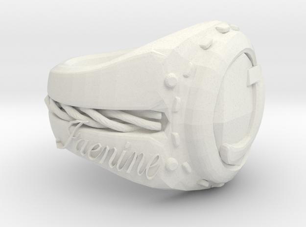 Jaenine Ring Pretest in White Natural Versatile Plastic