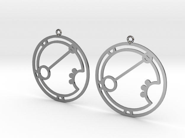 Ariana - Earrings - Series 1 in Fine Detail Polished Silver