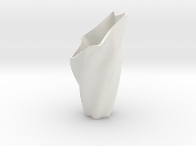 Star Vase in White Natural Versatile Plastic