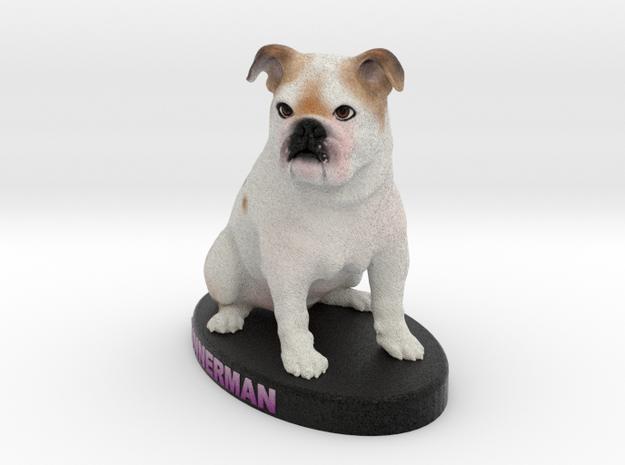 Custom Dog Figurine - Gunner in Full Color Sandstone