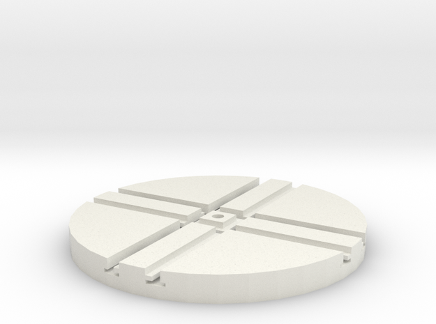 T-65-wagon-turntable-48d-100-1a in White Natural Versatile Plastic