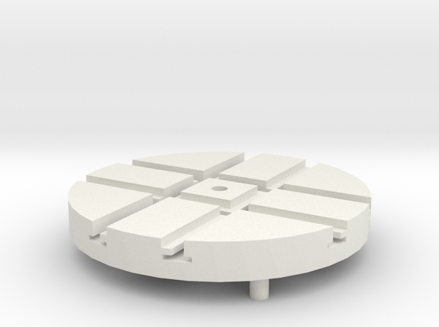 T-9-wagon-turntable-36d-100-1a in White Natural Versatile Plastic