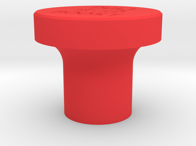 Hurricane Emergency Boost Button in Red Processed Versatile Plastic