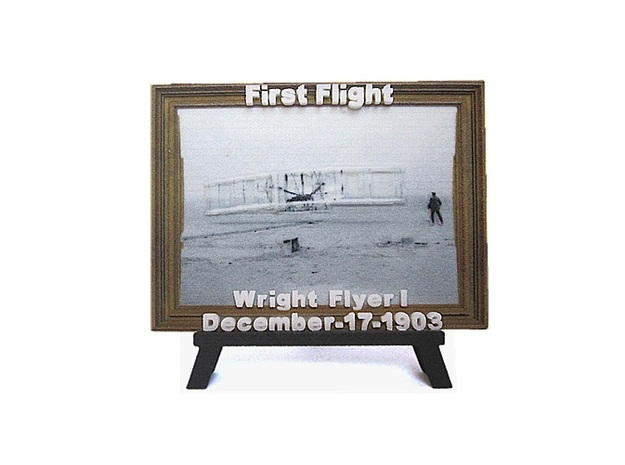 'First Flight' 3D Relief Framed Micro-Painting 3d printed