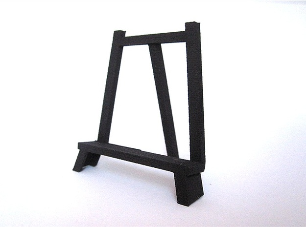 3D Relief Micro-Painting Stand in Black Natural Versatile Plastic
