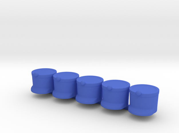 5 x French Shako in Blue Strong & Flexible Polished