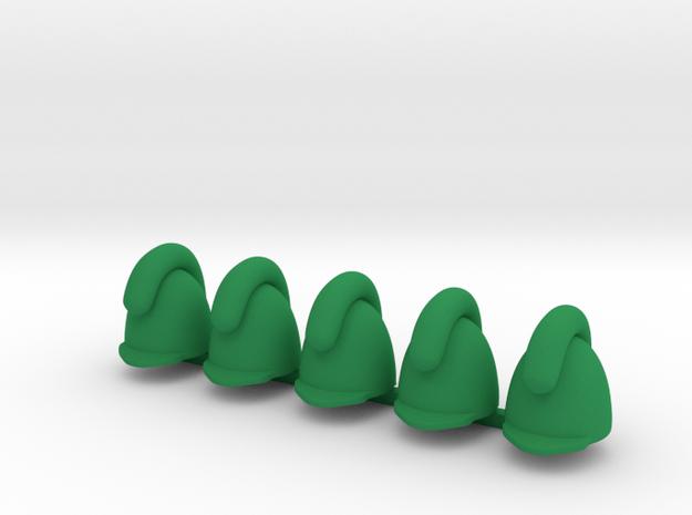 5 x Bavarian Helmet  in Green Processed Versatile Plastic