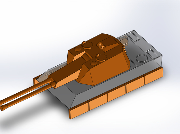 Flakpanther, 3 diff. Turrets 1/285 6mm 3d printed