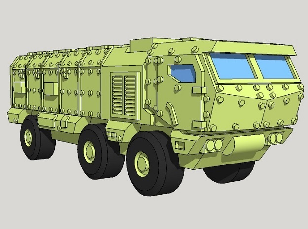 6mm Kamaz Typhoon MRAP (4pcs) in Smooth Fine Detail Plastic