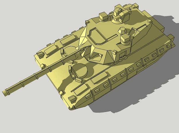 6mm T-14 Armata MBT (4pcs) in Smooth Fine Detail Plastic