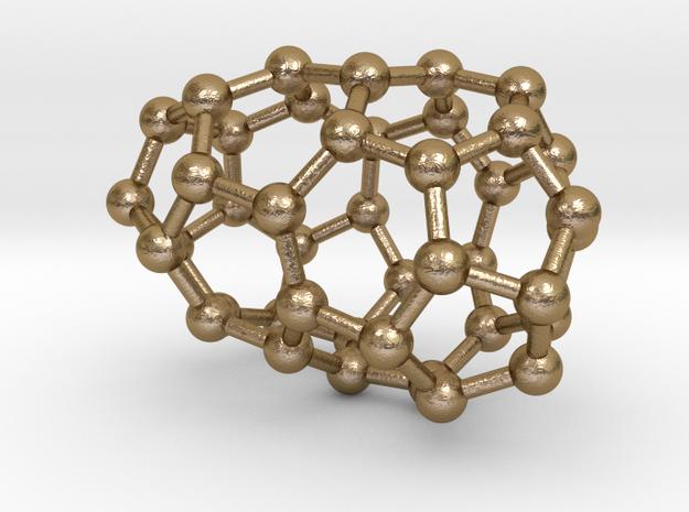 0184 Fullerene C42-1 c2 in Polished Gold Steel