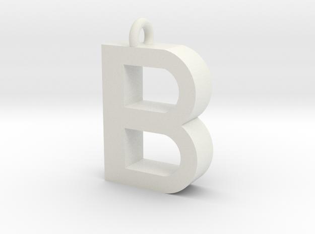 Alphabet (B) in White Strong & Flexible