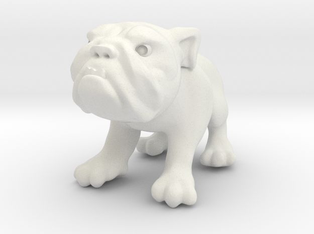 Bulldog - Toys in White Natural Versatile Plastic