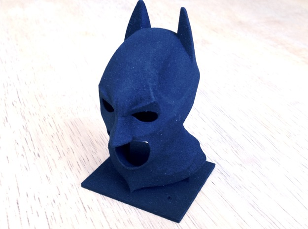 The Dark Knight Cowl in Black Strong & Flexible